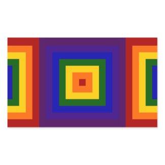 Rainbow Squares sticker