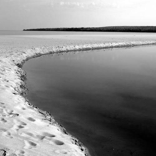 AuTrain River at Lake Superior