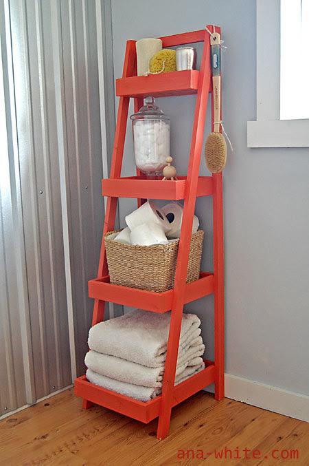 http://www.ana-white.com/2010/10/plans/painter%E2%80%99s-ladder-shelf