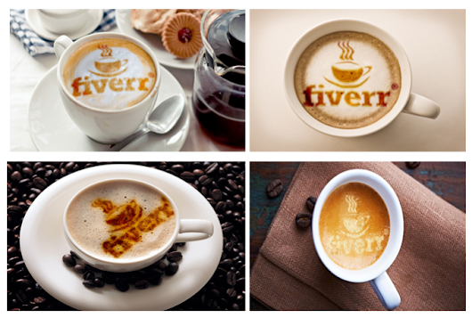 I will put your text or logo in a coffee cup with coffee powder for $5