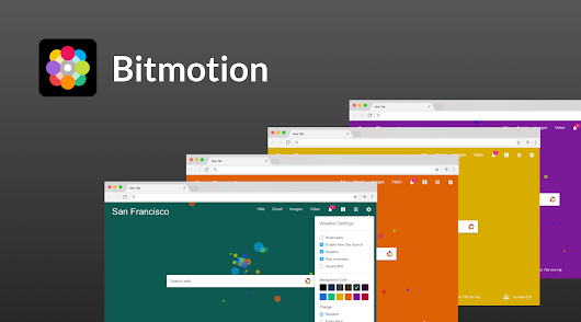 Bitmotion - New Tab page with animated background and the weather forecast