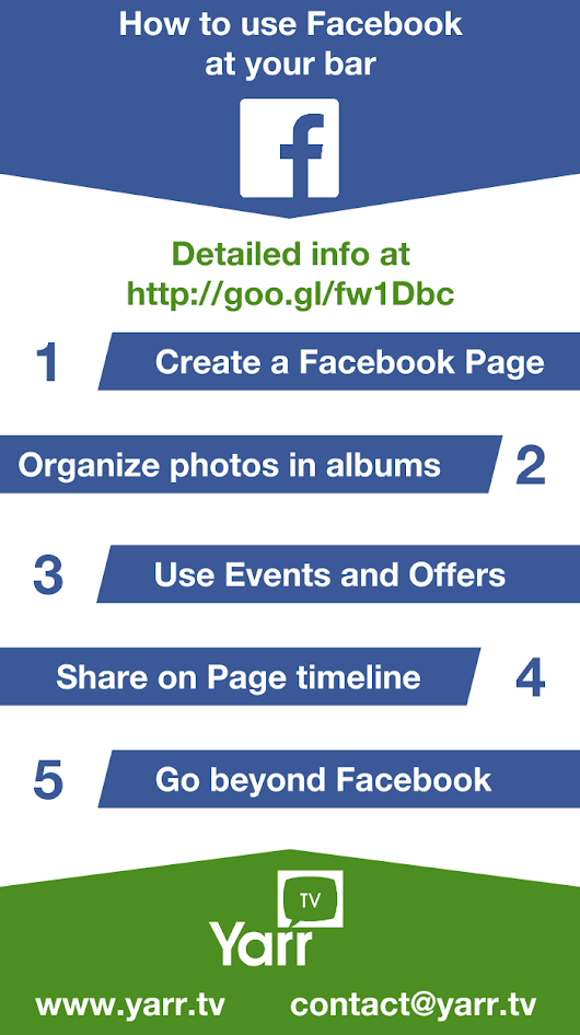 Infographic on how to use Facebook at your bar