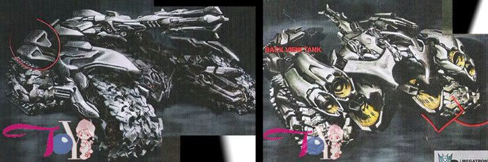 Megatron's new vehicle mode in TRANSFORMERS: REVENGE OF THE FALLEN?