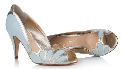 Seriously Stunning Blue Wedding Shoes   hitched.co.uk
