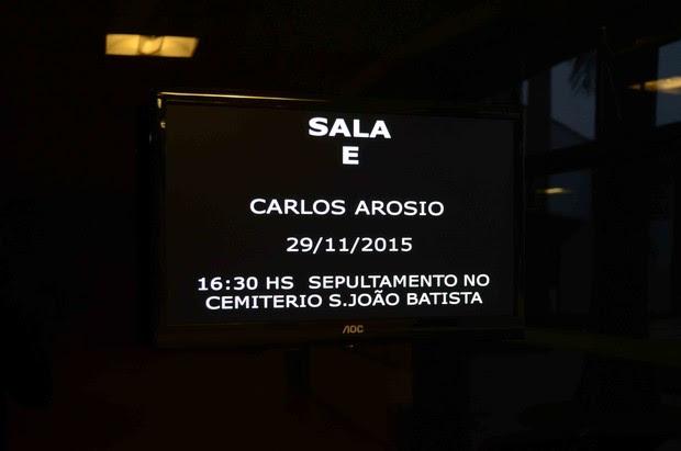Velório do pai de Ana Paula Arósio (Foto: Marcos Madi / Ag News)