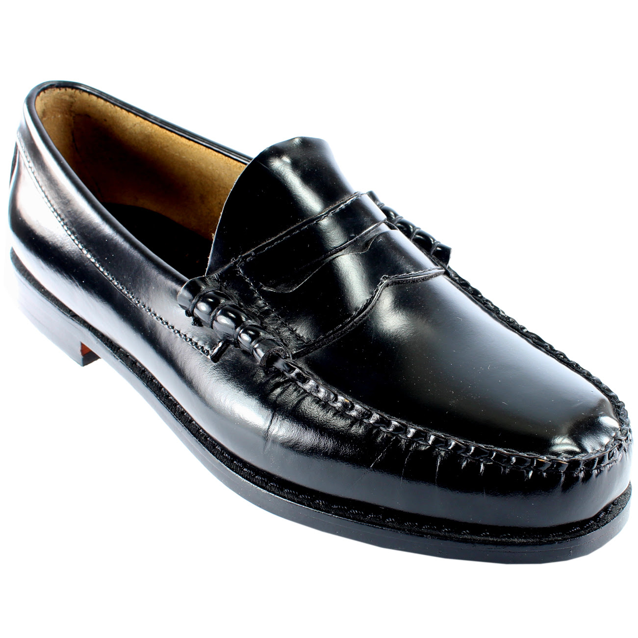 Mens G.H. Bass Larson Slip On Smart Penny Loafer Flat ...