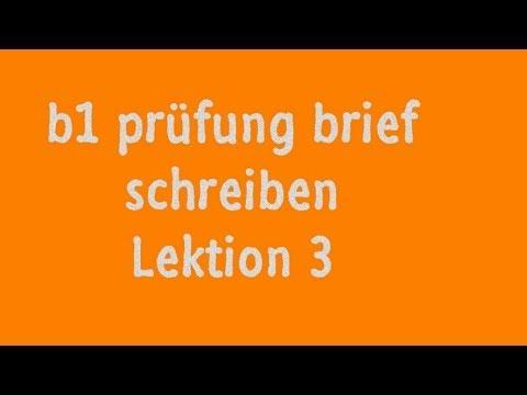 Deutsch Themen B1 Brief Schreiben Lernen 2019
