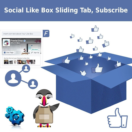 Facebook Like Box et Messenger, Sliding Tab Module pour Prestashop.