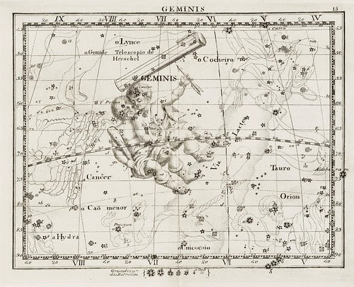 017-Flamsteed, John, 1804, Atlas celeste arranjado por Flamsteed, John. Gemini