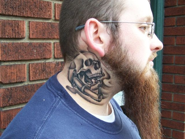 Neck Tattoo Designs For Men Mens Neck Tattoo Ideas