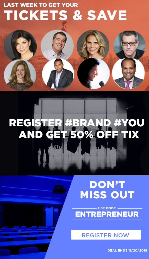 LAST CALL - #BRAND #YOU NYC CONF - 50% OFF! FOR ENTREPRENEURS, EXECUTIVES IN TRANSITION AND SALES PROS