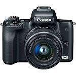 Canon Eos M50 Mirrorless Camera with EF-M 15-45mm f/3.5-6.3 Is STM Lens, Black