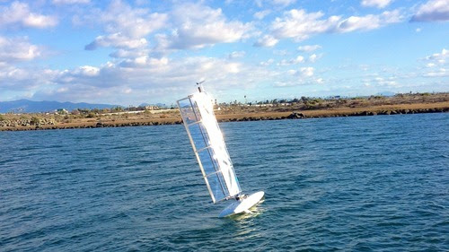 Submaran Under Sail For The First Time In San Diego Bay