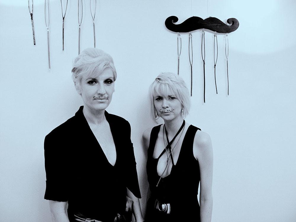 Cynics, Exhibit Portrait, Amanda and Rhiannon.