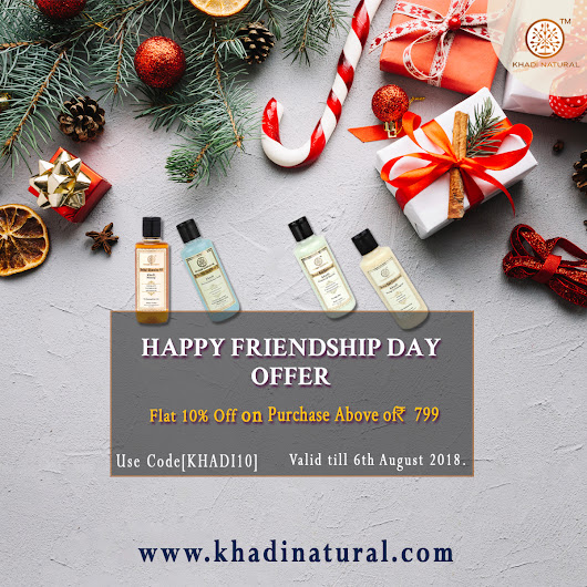 Khadi Natural Happy Friendsh Day Offer