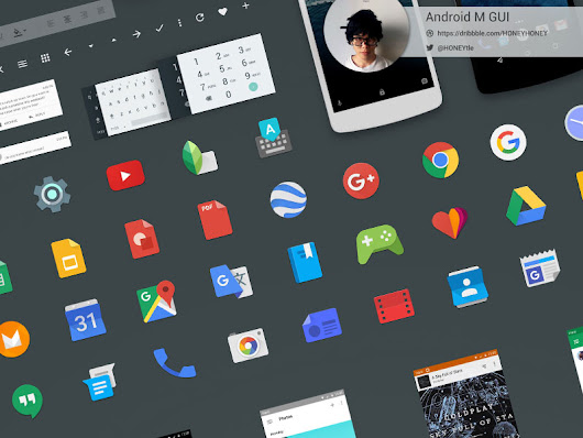 Android M GUI Kit Sketch freebie - Download free resource for Sketch - Sketch App Sources