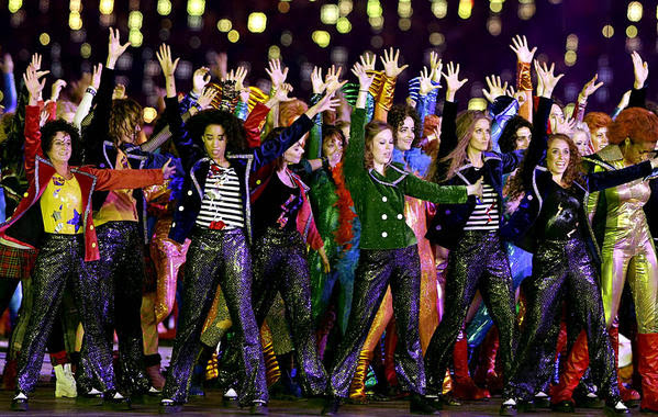 Dancers perform during the opening ceremony at the 2012 Summer Olympics on Friday in London.