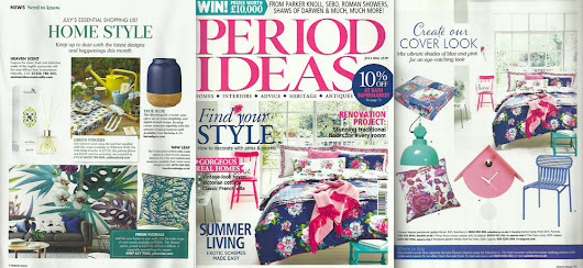 Lauraloves Cushions Feature in Period Ideas July Issue