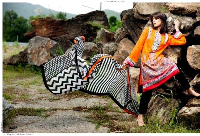 Beautiful-Cute-Girls-Models-Wear-Summer-Eid-Dress-Collection-2013-Lakhani-Silk-Mills-9