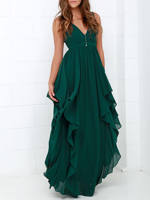 Ebay Spaghetti Strap Backless Plain Sleeveless Maxi Dresses sheer velvet