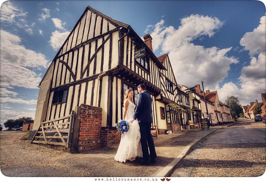 The Bell Inn Kersey Suffolk Wedding Photos Bride and Groom - Hadleigh Wedding Photography Suffolk- Hello Romance