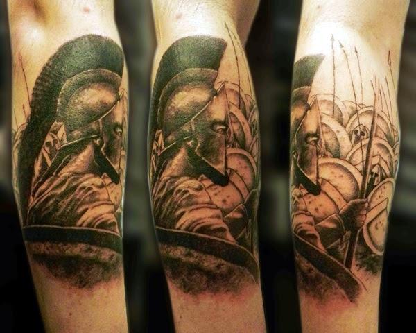 Valiant Gladiator Tattoo Designs (38)