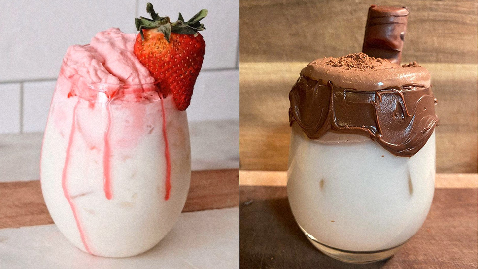 How To Make Whipped Strawberry Milk And Whipped Nutella