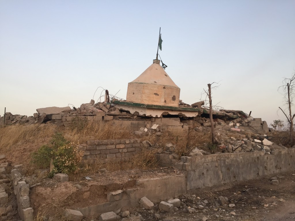 A Kakei holy site that was destroyed by ISIS. Photo: Seth J. Frantzman / The Tower