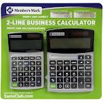 Member's Mark Trackback 2-Line Business Calculator Combo