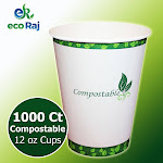 Eco Raj Hot or Cold Cups 12 oz, 1,000-count