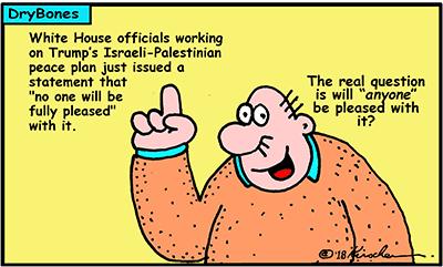 Dry Bones cartoon, Amazon,Gaza, Palestinians, Israel, Arabs, Trump,