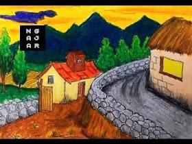 Gambar Pemandangan Gunung Kartun
