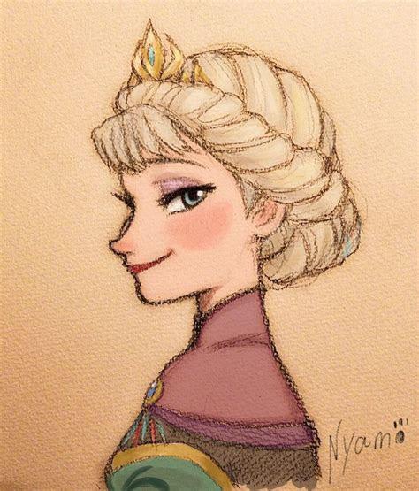 nice drawing  elsa disney princess sketches