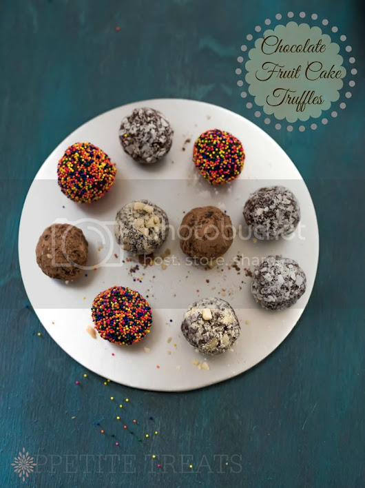 Chocolate Fruit Cake Truffles
