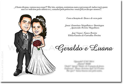 caricatura casal, caricatura para casamentos, caricatura noivinhos, by ila fox