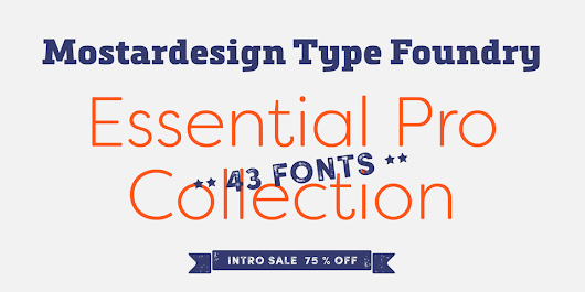 Mostardesign Essential Pro Collection « MyFonts