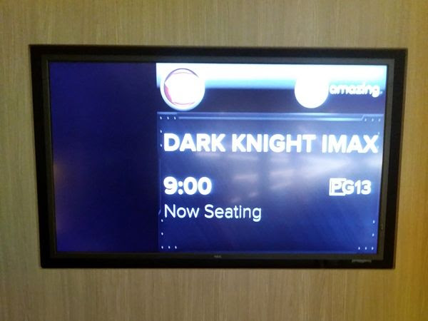 About to watch THE DARK KNIGHT on IMAX at Universal Cinema AMC in CityWalk...on August 26, 2018.
