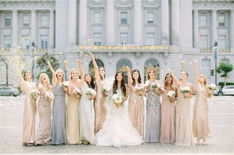 Best 25  Gold bridesmaid gowns ideas on Pinterest   Gold