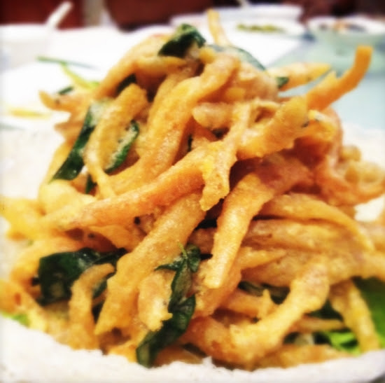 salted egg yolk whitebait