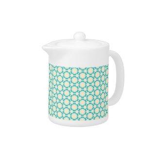Vintage Blue Floral Teapot zazzle_teapot