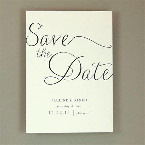 Elegant Wedding Save the Date   Modern, Elegant, Classic