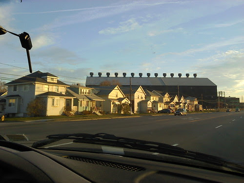 Homes in the shadow of the steel mills