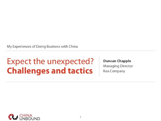 Doing business in China: Expect the unexpected?  Six challenges and...