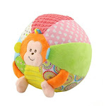 Baby Sound Cloth Toy Animal Ball For Kids Activity Baby Toys Cartoon Pink Pig Monkey Soft Jouet Early Educational Ball HOT C China