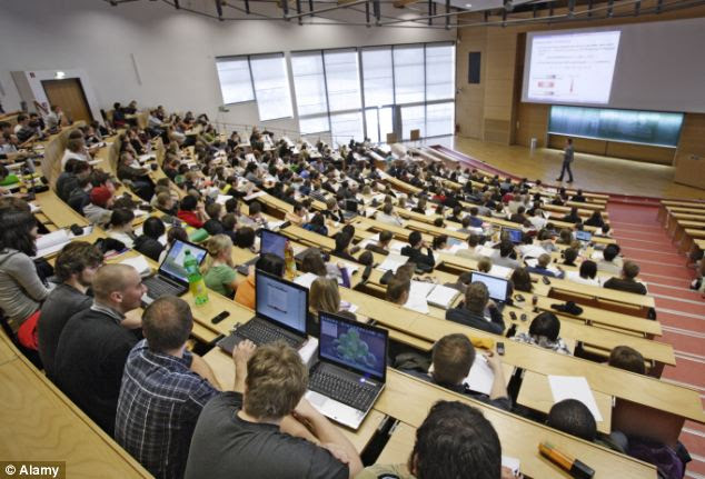 Cost: Many students pay £9,000 a year for the cost of a university education (file photo)