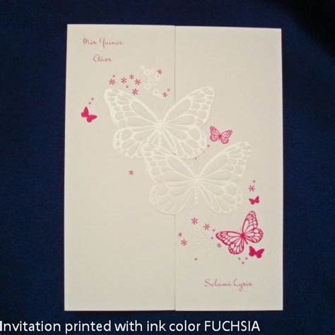Quinceanera Invitation BUTTERFLY WISHES   Sweet 16
