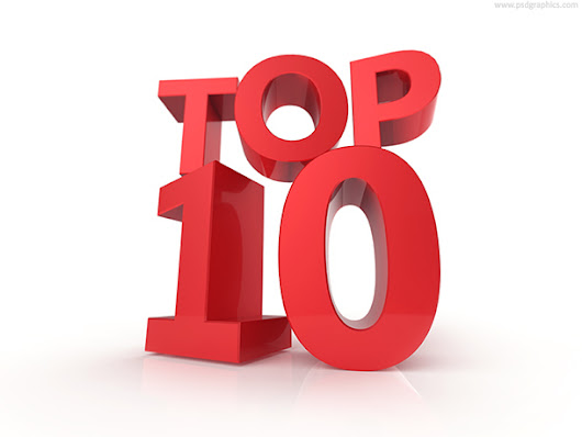 Top 10 and top 100, signs | PSDGraphics