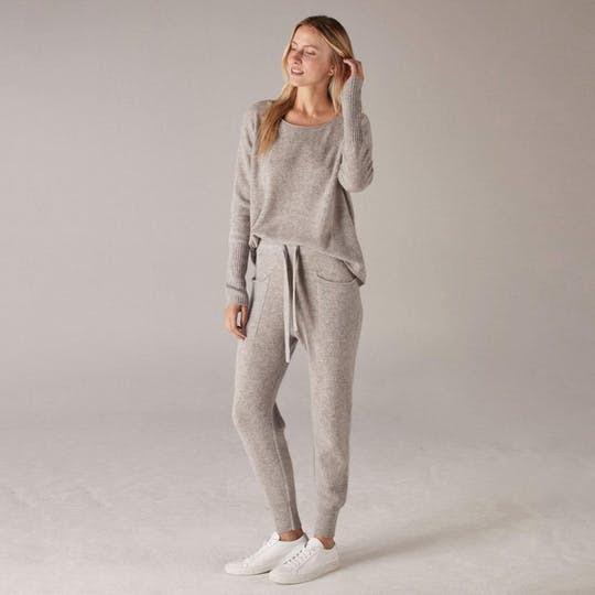 Women's Cashmere Sweatpants Cement by NAADAM
