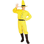 The Man with the Yellow Hat Adult Costume - 51019 - Black/Yellow - One-Size