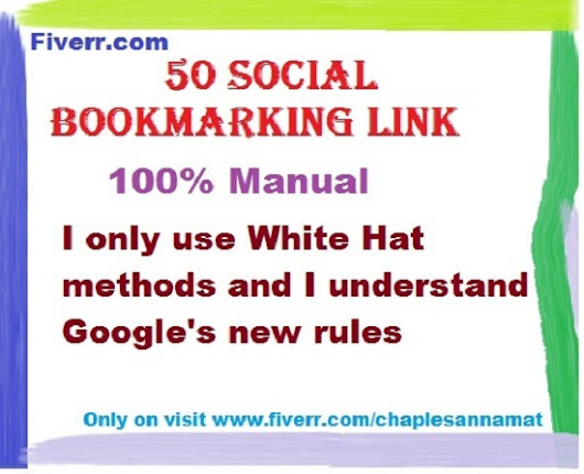 I will do 50 social bookmarking link manually for $5